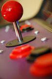Arcade Joystick. From games cabinet royalty free stock photos