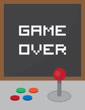 Arcade Joystick Game Over Fotografia de Stock