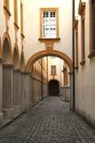Arcade in klooster Melk Royalty-vrije Stock Afbeelding