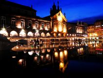 Arcade of Lapa, in Braga Portugal stock photography