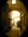Arcade médiévale antique Photographie stock