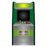 Arcade machine. Vintage arcade machine isolated over white background stock illustration