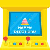 Arcade machine cake birthday Royalty Free Stock Photo
