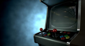 Arcade Machine Dramatic View Fotografie Stock