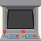 Arcade machine game cabinet isolated vector Royalty Free Stock Photo