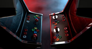 Arcade Machine Opposing Duel Stock Photos