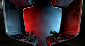 Arcade Machine Opposing Duel Royalty Free Stock Image