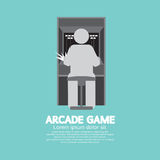 Arcade Machine Player Graphic Symbol Royalty Free Stock Images