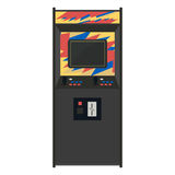 Arcade machine vector illustration. Geek gaming retro gadgets fr Royalty Free Stock Image