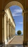 Arcade at Madonna della Guardia sanctuary, Genova, Italy Royalty Free Stock Photography