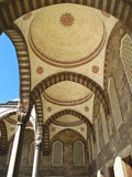 Arcade in the mosque courtyard. Arcade in the courtyard of Blue mosque in Istanbul Royalty Free Stock Photo