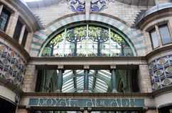 Arcade Norwich royal Photographie stock libre de droits