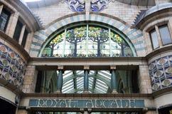 Arcade Norwich royal Photographie stock libre de droits