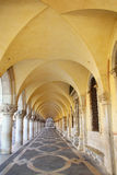 Arcade of Palazzo Ducale at Piazza San Marco in Venice, Italy Royalty Free Stock Photo