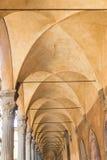 Arcade Palazzo Poggi.  Bologna, Italy. View of Arcade Palazzo Poggi.  Bologna, Italy Stock Image