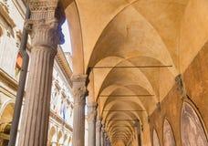 Arcade Palazzo Poggi.  Bologna, Italy. View of Arcade Palazzo Poggi.  Bologna, Italy Stock Images