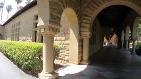 Arcade Palo Alto de Stanford banque de vidéos