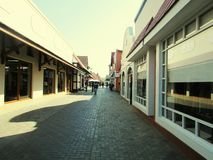 Arcade passage. Shops in arcade passage Royalty Free Stock Images