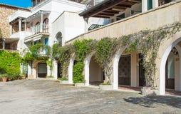 Arcade in Porto Rotondo Royalty Free Stock Photography