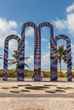 Arcade pour échouer Atalaia, Aracaju, état de Sergipe, Brésil photo stock