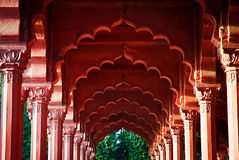 Arcade at the Red Fort, Delhi, India.  stock images