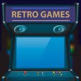 Arcade. Retro arcade game machine. Vector illustration royalty free illustration