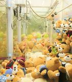 Arcade robotic claw game machine, claw crane game machine Stock Photo