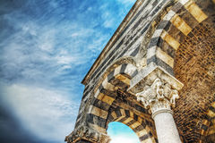 Arcade in Saccargia church. Arcade in Saccargia abbey, Sardinia Royalty Free Stock Photos