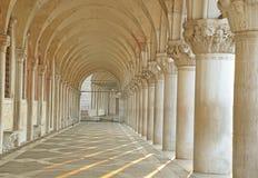 Arcade, San Marco square in Venice.  Stock Photos