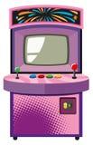 Arcade-Spiel-Maschine im purpurroten Kasten Lizenzfreie Stockfotografie