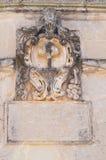 Arcade of St. Giorgio. Melpignano. Puglia. Italy. Detail of the Arcade of St. Giorgio. Melpignano. Puglia. Italy Stock Images