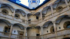 Arcade, state museum Old Castle, Stuttgart, Baden-Wuerttemberg, Germany. Arcade, state museum Old Castle, Stuttgart Baden-Wuerttemberg stock video