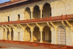 Arcade surrounding Anguri Bagh (Grape Garden) in Agra Fort, Utta Royalty Free Stock Photography