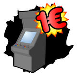 Arcade video game. Design of retro arcade video game Royalty Free Stock Photo