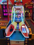 Arcade Video Games. With Shining Displays in a Dark Gaming Room Royalty Free Stock Photos
