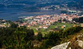 Arcade village. Landscape of the village of Arcade in Galicia (Spain Stock Photos