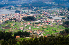 Arcade village. Landscape of the village of Arcade in Galicia (Spain Royalty Free Stock Images