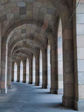 Arcade Walk. In genramn congress hall (Nuremberg, Germany Royalty Free Stock Image