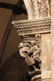 arcaded Крылечко дворца пастора dubrovnik Хорватия Стоковое Фото