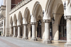 Arcaded Cloth Hall  Sukiennice ,Main Market Square, Krakow, Poland Stock Photos