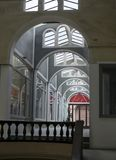 Roof with arcades. Arcaded corridor that offers a peculiar style Royalty Free Stock Images