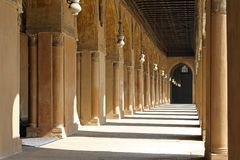 Arcaded corridors Stock Image