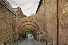 Arcaded street, Rome Royalty Free Stock Photo