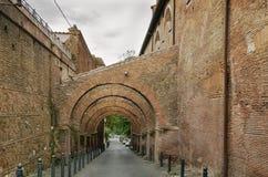 Arcaded street, Rome. Street near the Santi Giovanni e Paolo church, Rome Royalty Free Stock Photo