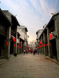 Arcaded streets,Huaiyuan Ancient Town,Guangxi,China. Huaiyuan ancient town is one of the most popular tourist attractions in Yizhou,Guangxi Province,China Royalty Free Stock Photography