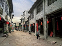 Arcaded streets,Huaiyuan Ancient Town,Guangxi,China. Huaiyuan ancient town is one of the most popular tourist attractions in Yizhou,Guangxi Province,China Royalty Free Stock Images