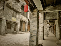 Arcaded streets,Huaiyuan Ancient Town,Guangxi,China. Huaiyuan ancient town is one of the most popular tourist attractions in Yizhou,Guangxi Province,China Stock Images