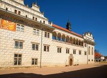 Arcades και sgrafitto στο κάστρο Litomysl, Τσεχία Στοκ Εικόνες