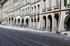 Arcades στα ιστορικά κτήρια στη Βέρνη Στοκ εικόνα με δικαίωμα ελεύθερης χρήσης