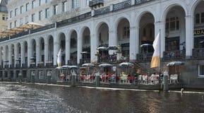 Arcades στη λίμνη Alster - Αμβούργο Στοκ Εικόνες